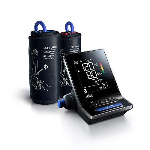 Braun ExactFit 5 Connect Intelligentes Blutdruckmessgerät (klinische Genauigkeit, Bluetooth, Erkennung eines unregelmäßigen Herzschlags, einfaches Ablesen) BUA6350EU